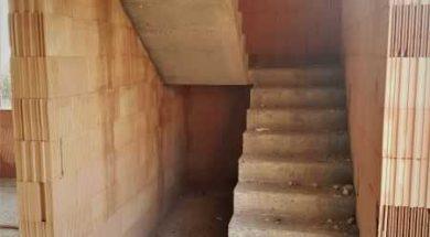Výška schodu by se měla pohybovat od 160 do 180 mm.