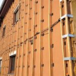 Cena stříkané izolace - zateplení fasády stříkanou izolací tl. 120 mm, cena izolace 600,-Kč/m2
