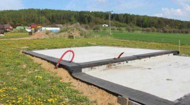 Základová deska s hydroizolací z asfaltových pásů