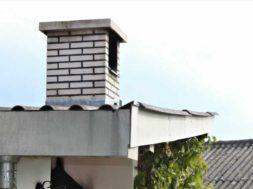 Stavba komínu z cihel