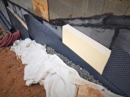 Nopová fólie – ochrana hydroizolace spodní stavby