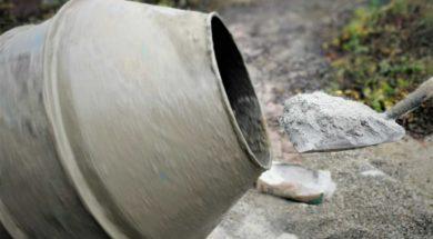 Cement – míchání betonu