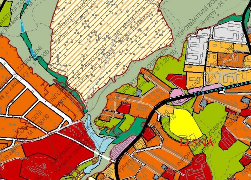 Územní plán - zastavitelné území