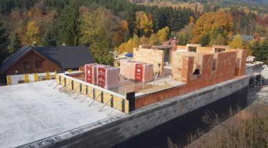 Zrání betonu – strop domu