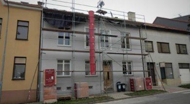rekonstrukce střechy řadového domu