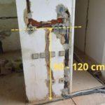 Výška vypínače od podlahy by měla být optimálně 90 - 120 cm.