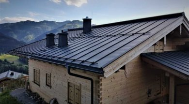 Oplechování střechy lakovaným plechem