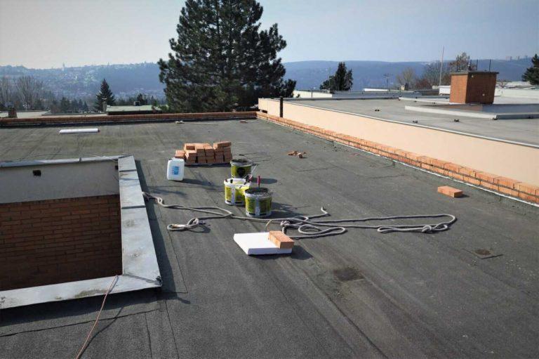 Rekonstrukce ploché střechy - zateplení + hydroizolace