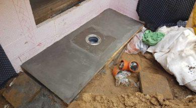 Základ pro betonový sklepní světlík s odvodněním